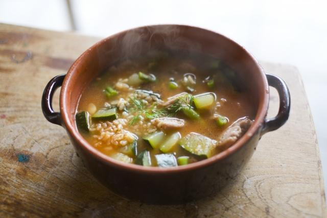 【ゴロゴロ茄子の香り味噌汁】秋の和定食レシピ