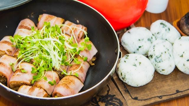【にんにくの豚肉巻き】にんにくレシピ