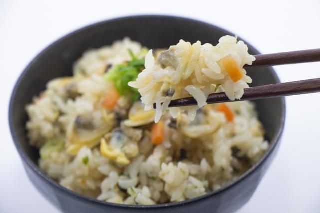 【真っ黒あさり釜飯】レシピ