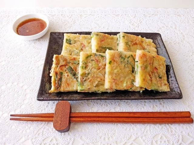 【キムチチーズ豆腐チヂミ】ロバート馬場さんレシピ