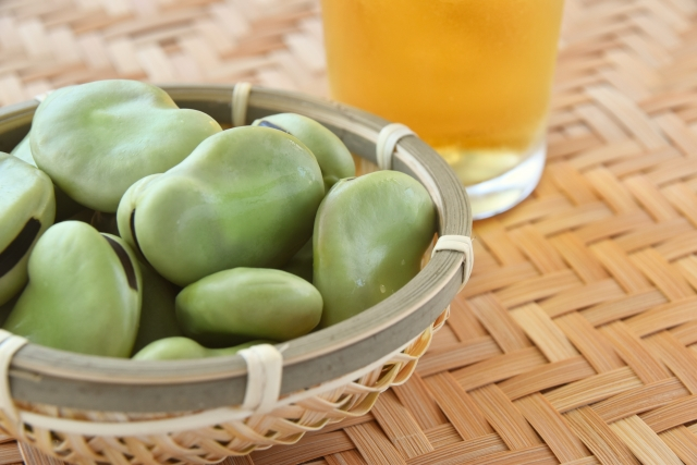 【ペペロンそら豆】レシピ