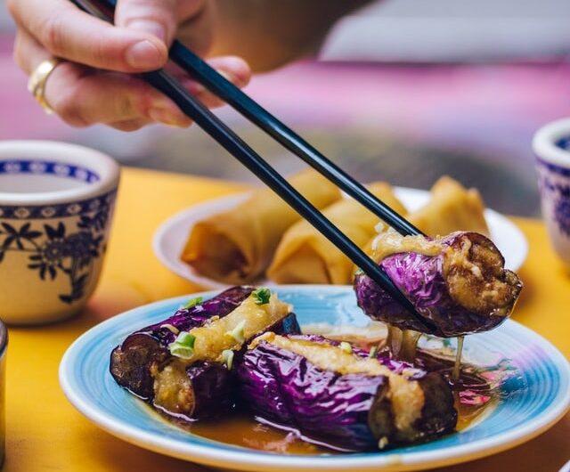 【なすのひき肉はさみ焼き】簗田シェフレシピ